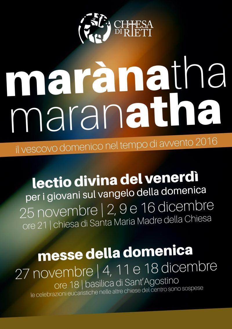Calendario Liturgico Maranatha.Appuntamenti Con Il Vescovo In Avvento Locandina Chiesa