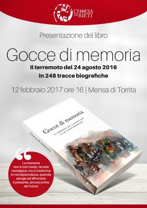 """Presentazione del libro """"Gocce di memoria"""" / Locandina"""
