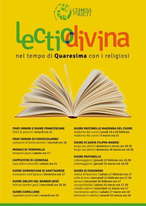 Lectio Divina in Quaresima con i religiosi / Locandina