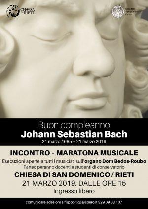 Maratona musicale per il compleanno di Bach / Locandina