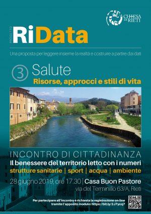RiData – Incontro di cittadinanza sulla Salute / Locandina