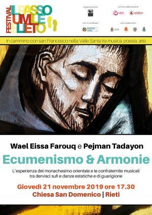 Il Passo Umile e Lieto. Ecumenismo e Armonie / Locandina
