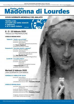 Madonna di Lourdes – Giornata Mondiale del Malato / Locandina