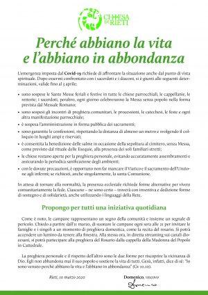Disposizioni Covid-19 / Locandina