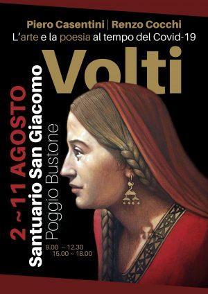 """Santuario di Poggio Bustone, mostra """"Volti"""" – Locandina"""