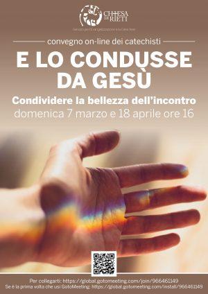 Convegno on-line catechisti / Locandina