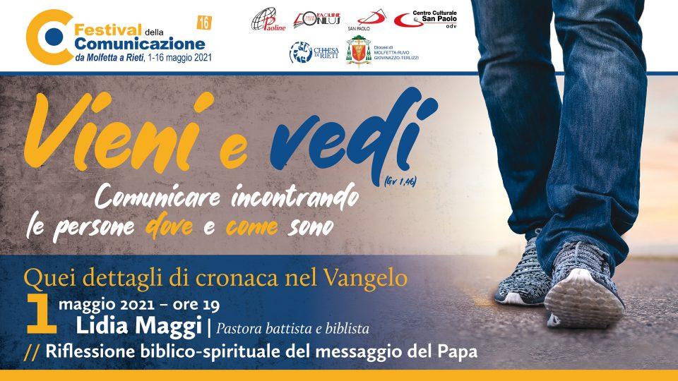 #FdC2021 | Lidia Maggi: riflessione biblico-spirituale sul messaggio del Papa