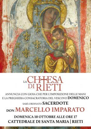 Ordinazione Sacerdotale di Marcello Imparato / Locandina